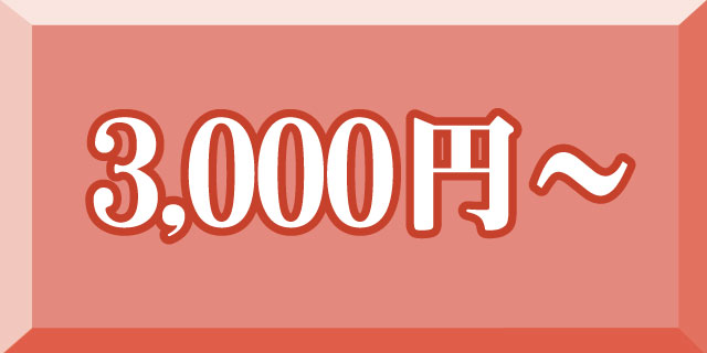 3,000円~